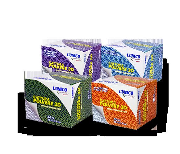 L'UNICO Alta Qualità è il nuovo marchio del pulito Cattura polvere 3D